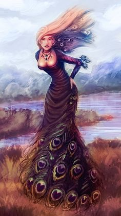 peacock dress by *Clazz-X1 on deviantART