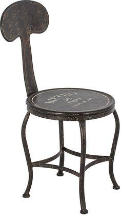 cód. 100.058 - Cadeira Bistro Paris Preta Oldway - 80x38x46
