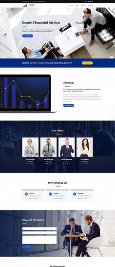 Financial Advisor Newsletter Design Template by StockLayouts
