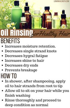 Oil Rinsing for Healthy Hair, How to Oil Rinse, What Oil to Use to Do an Oil Rinse, Longing 4 Length, Best oils for oil rinsing Natural Hair Care Tips, Natural Hair Styles, Long Hair Styles, Olive Oil Hair, Hair Oil, Sit Under Hair Dryer, Dry Curly Hair, 4c Hair, Olive Oil Benefits