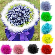 2x #multi-color 2m #marabou feather boa for #fancy dress party burlesque boas dec,  View more on the LINK: http://www.zeppy.io/product/gb/2/331754008801/