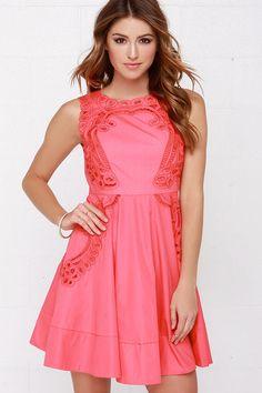 Venetian Rose Coral Pink Dress