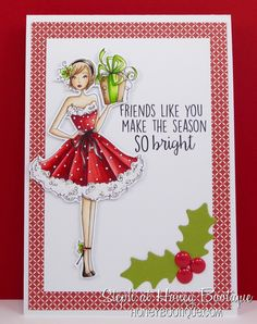 Stamping Bella Christmasgiftabella rubber stamp. Click through to read the blog post, and see more peeks and inspiration from the new release. Release Date 3rd Sept 2016.