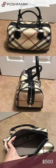 Burberry top handle bag Great condition Size of the bag almost like the LV speedy 30 Clean inside and out  No tear  No dirty No rip  Well loved and taken care of  If need more pictures or have questions let me know Take offer Burberry Bags Totes