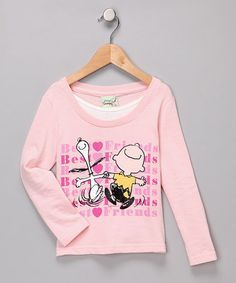 Take a look at this Pink 'Best Friends' Long-Sleeve Tee - Girls by Vintage Snoopy on #zulily today!