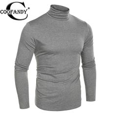 COOFANDY Men basic t shirt 2017-2017 winter tee Fashion Slim Fit Thermal Underwear Turtleneck Long Sleeve Solid T-Shirts