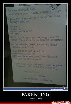 Dear Tumblr Daughter..