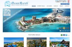 Dream Resorts sells vacation packages to Mexico. You can purchase the perfect getaway vacation right on their website at unbelievably low prices. Designed by Wisevu.