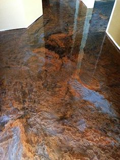 Using metallic epoxy on a concrete floor in a house