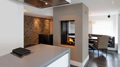 Image result for 2 sided fireplace