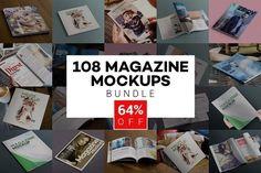 Beautiful Magazine Mockups Bundle by ZippyPixels on @creativemarket