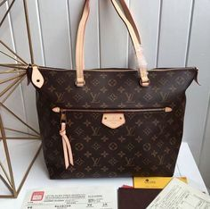 #Louis #Vuitton Medium IENA Handbag M42267 Brown