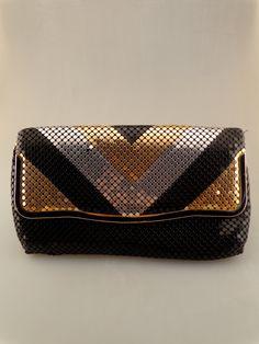 Sac à main Vintage / cotte / Disco / Black Gold Silver / années 1970 embrayage sac à main sur Etsy, $9.02