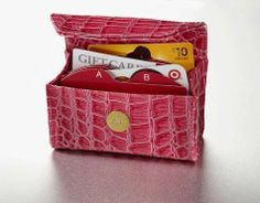 Mother's Day gift idea! A Card Cubby, the alphabetized wallet, and $25 Bed, Bath and Beyond gift card for mom for just $40! Wallet organizer, gift card organizer, coupon organizer.