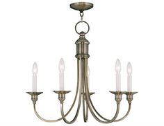Livex Lighting Cranford Five-Light 24'' Wide Chandelier