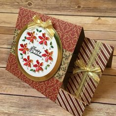 Created by Colleen Tyler using Stamps by Chloe by Stamps By Chloe, Side Step Card, Poinsettia Cards, Crafters Companion Cards, Griffins, Step Cards, Cricut Cards, Card Patterns, Holiday Decorating