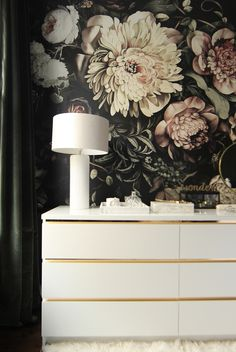 Malm Vintage Style Gold Dresser