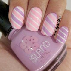purple and pink candy cane look