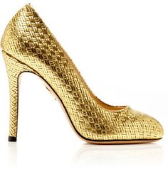 Charlotte Olympia Jenny Woven Leather Pump on shopstyle.com
