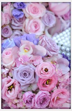 Wedding Flowers, Lovely Shades Of Pink And Purple Flowers For A Spring Wedding: flower centerpieces for weddings