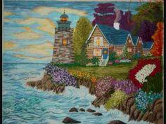 Como Bordar con Tecnica Guatemalteca- Hogar Tv por Juan Gonzalo Angel - YouTube Silk Ribbon Embroidery, Landscape Art, Handmade Crafts, Textile Art, Needlepoint, Weaving, Cross Stitch, Tapestry, Quilts