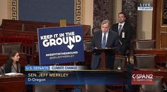 Who: Senator Jeff Merkley (D-Oregon)  When: February 2016  What: Climate change  Watch on C-SPAN  Read Congressional Record