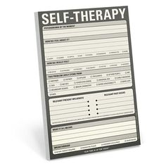 Knock Knock Self-Therapy Pad is a step-by-step notepad to guide you through every problem (with humor!) A great, inexpensive gift for friends and family.
