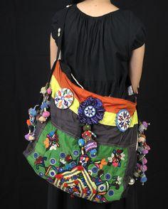 Hippie Boho Bags   Bohemian Bag Vintage Tribal Fabric