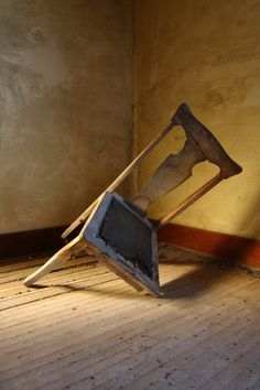 We looked at props to make our set look as best as possible. In the first scene Jo who im playing is moaning about how horrible the house is, as Helen who Chelsey is playing thinks the place is wonderful. So Jo picks up a broken wooden chair to show that the house is falling apart.