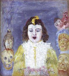 La chica con máscaras, 1921. Expresionismo - James Ensor