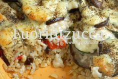 Parmigiana di melanzane con crema di pesce spada #Eggplant parmigiana with cream swordfish
