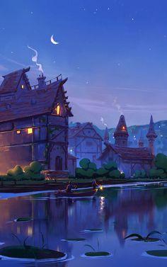 Anime Scenery Wallpaper, Landscape Wallpaper, Nature Wallpaper, Disney Wallpaper, Fantasy Art Landscapes, Fantasy Landscape, Landscape Art, Fantasy Concept Art, Fantasy Artwork