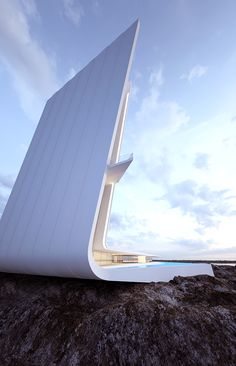 Striking conceptual projects by Ukrainian designer and architect Roman Vlasov. More architecture via Behance Architecture Unique, Conceptual Architecture, Futuristic Architecture, Interior Architecture, Futuristic Houses, Sketch Architecture, Cultural Architecture, Minimalist Architecture, Architecture Student