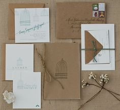 Invite idea. I love the simplicity. I need a different image than the birdcage to represent our wedding.