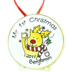 Personalised Fine China Christmas Decoration - Rudolph  from Personalised Gifts Shop - ONLY £12.99