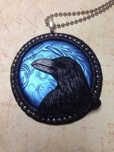 A personal favorite from my Etsy shop https://www.etsy.com/listing/502568436/raven-pendantnecklace-handsculpted