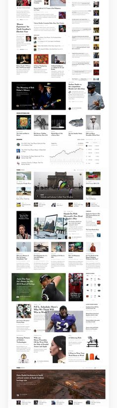 Editorial Design: The New York Times Redesign Concept News Website Design, News Web Design, Web Design Trends, Website Layout, Web Layout, Layout Design, Design Ideas, Business Web Design, Web Design Logo