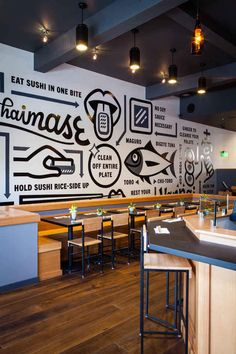 The 21 Best Sushi Spots in America: ICHI Sushi + NI Bar - San Francisco, CA First, they have a really cool mural which tells you how to eat sushi. Well, ICHI, from Tim and Erin Archuleta, solves that. It keeps the SF ethos in mind with the sustainable, seasonal menu, but doesn't skimp on anything delicious. If you are smart, you'll start by heading to the NI Bar in the back for izakaya and cocktails, and then get the omakase chef's choice (one of the best omakase deals in town). Be smart