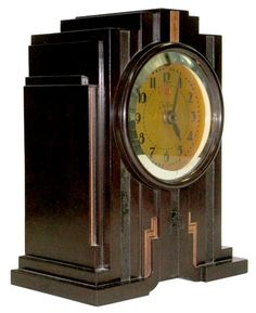 Paul Frankl Art Deco Bakelite Telechron Alarm Clock  				V&M #: 358125DEALER #: bp-384          $600.00