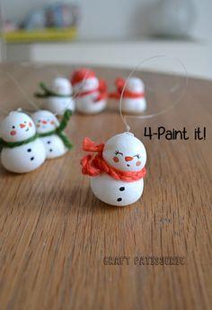 cold porcelain snowman DIY