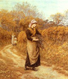 Gathering Firewood  Helen Allingham -