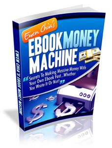 eBook Money Machine Rake In Real Cash 24/7 With Your Own Ebook Business In A Week From Now - http://www.normanmcculloch.com/vcart/product_details/Ebook_Money_Machine.html