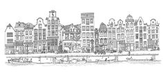 Studio Ellessi offers Amsterdam souvenirs and Utrecht souvenirs based on very detailed drawings. Tourists and city lovers finally can purchase a present that is as beautiful as the city itself. Made and designed by Dutch designer Elles Middeljans. Amsterdam Tattoo, Amsterdam Art, Amsterdam Houses, Boat Drawing, City Drawing, House Drawing, Amsterdam Souvenirs, City Sketch, Building Sketch