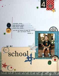 Lexi's school list. Great notebook coloured line stitching!! :)