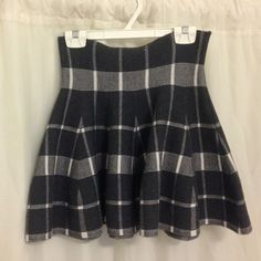 Plaid Grey School Girl Skirt Sweater material, thick and nice for cold weather, drop waist  -No low balls  -No trades  -Accept offers Brandy Melville Skirts Circle & Skater