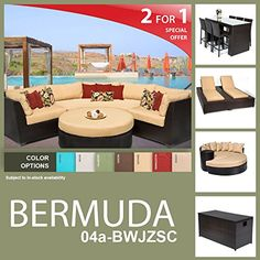 Bermuda 15 Piece Outdoor Wicker Patio Furniture Package BERMUDA04aBWJZSC >>> Continue to the product at the image link.(This is an Amazon affiliate link and I receive a commission for the sales)
