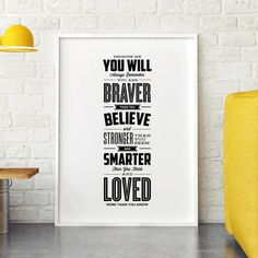 You Are Loved More Than You Know http://www.notonthehighstreet.com/themotivatedtype/product/you-are-loved-more-than-you-know-typography-print @notonthehighst #notonthehighstreet