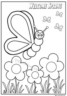 welcome spring coloring pages - photo#20