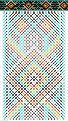 Muster # Streicher: 42 Zeilen: 70 Farben: 6 - List of the most creative DIY and Crafts String Bracelet Patterns, Embroidery Floss Bracelets, Yarn Bracelets, Bracelet Crafts, Handmade Bracelets, Braided Bracelets, Colorful Bracelets, Diamond Bracelets, Jewelry Crafts