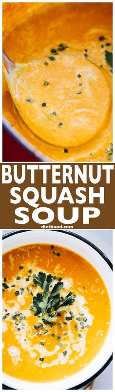 Butternut Squash Soup – Simple, the BEST EVER Butternut #Squash Soup! You're just a few ingredients away from this incredibly delicious, comforting, and healthy #soup.